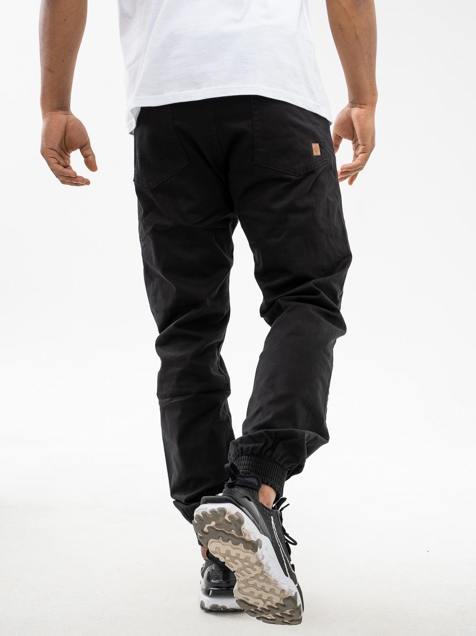 Spodnie Materiałowe Jogger Metoda Sport Diamond Czarne