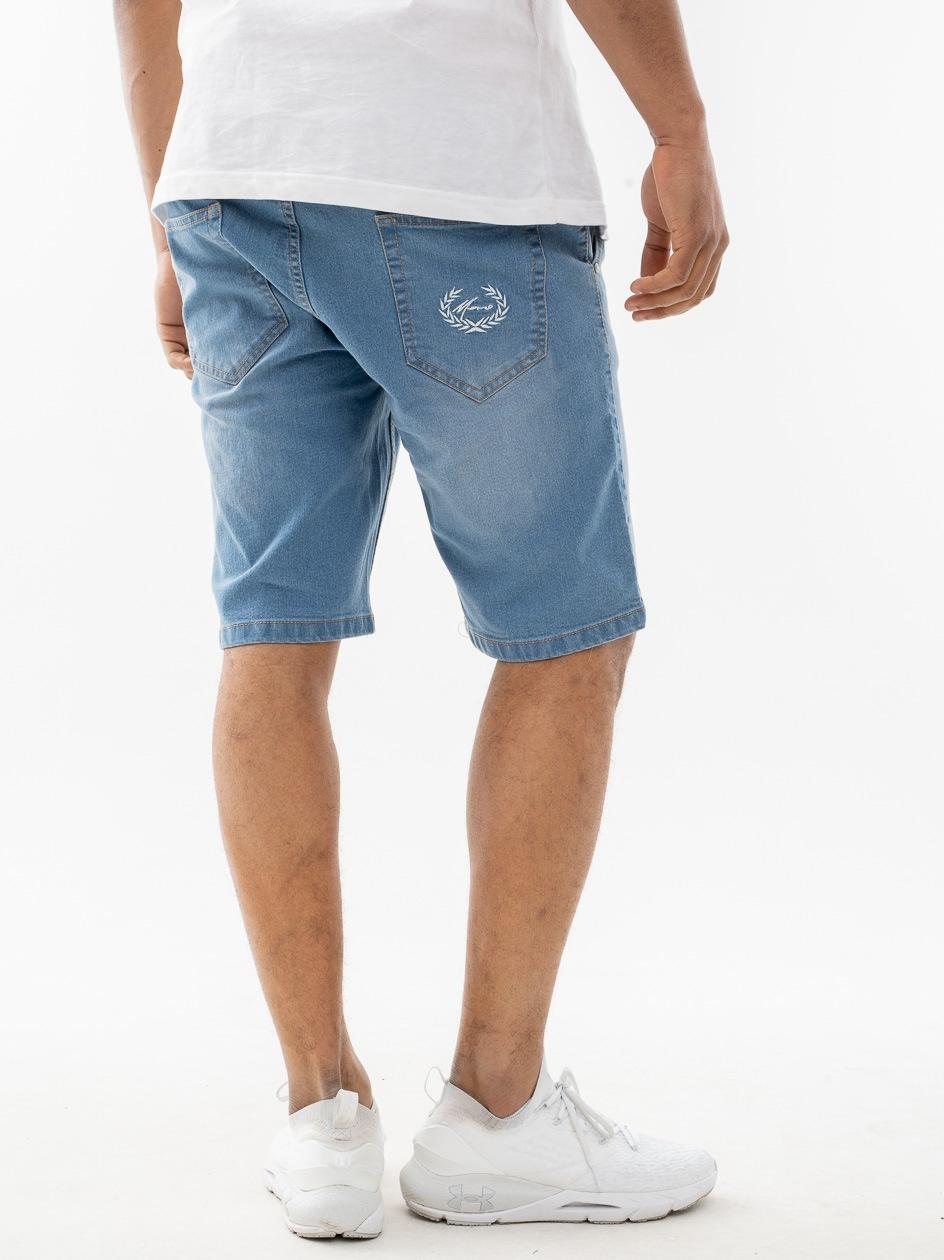 Krótkie Spodenki Jeansowe Moro Sport Paris Laur Pocket Jasne Niebieskie