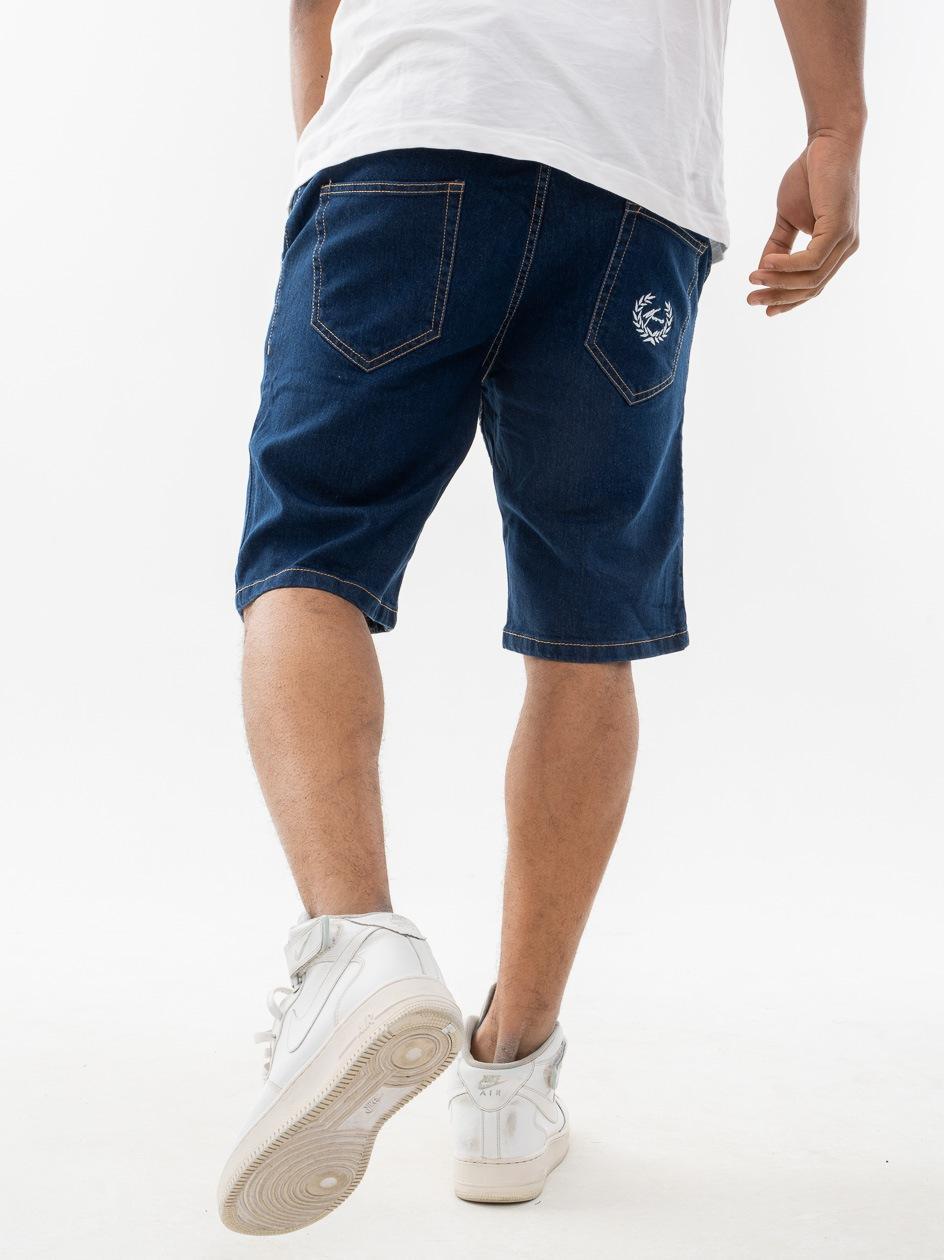 Krótkie Spodenki Jeansowe Moro Sport Paris Laur Pocket Ciemne Niebieskie