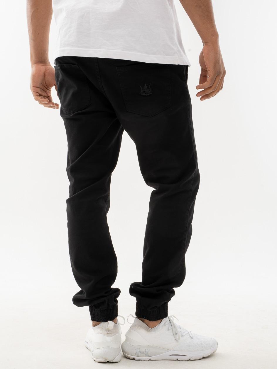 Spodnie Jogger Jigga Crown Stitch Czarne / Czarne