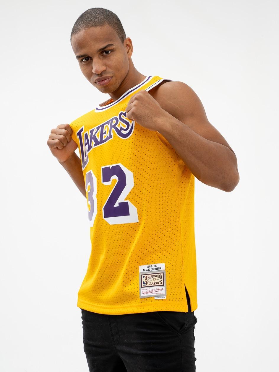 Koszulka Koszykarska Mitchell & Ness Los Angeles Lakers NBA Magic Johnson  #32 Swingman Home Jersey 84 Żółt