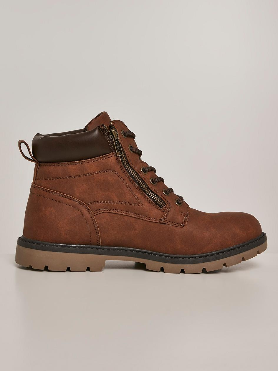 Buty Zimowe Urban Classics High Top Winter Sneaker TB2968 Ciemne Brązowe