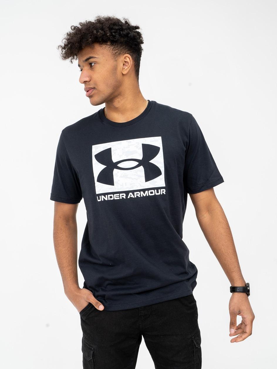 Koszulka Z Krótkim Rękawem Under Armour ABC Camo Boxed Logo Czarna