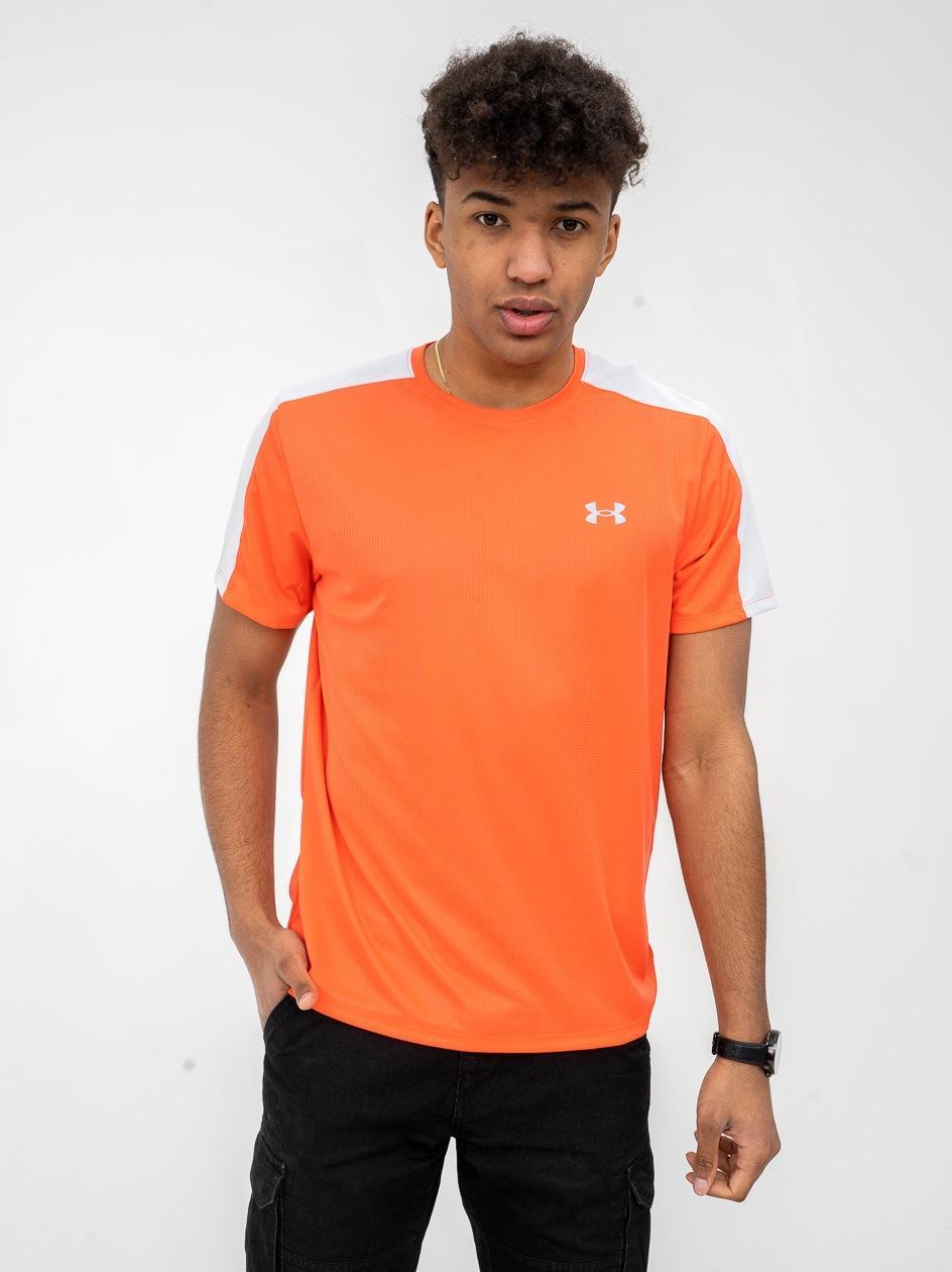 Koszulka Funkcyjna Z Krótkim Rękawem Under Armour Speed Stride Pomarańczowa