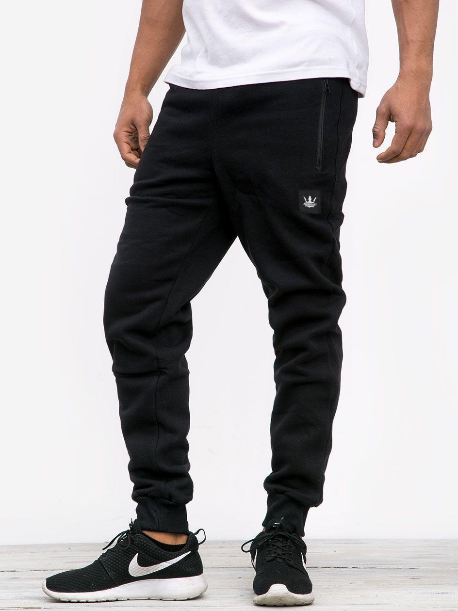 Spodnie Dresowe Jigga Wear Stripe Czarne