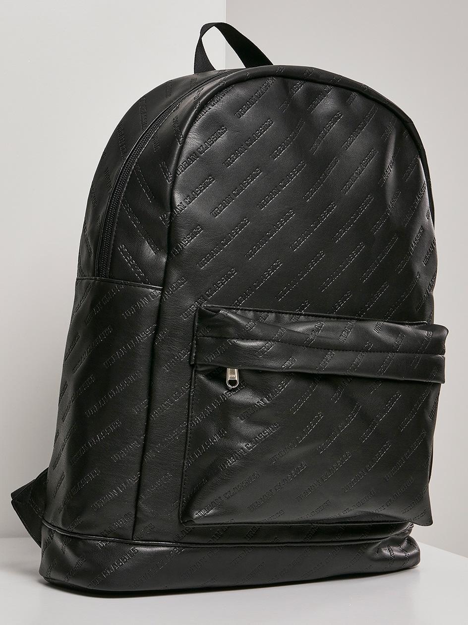 Plecak Urban Classics Imitation Leather Backpack TB2935 Czarny