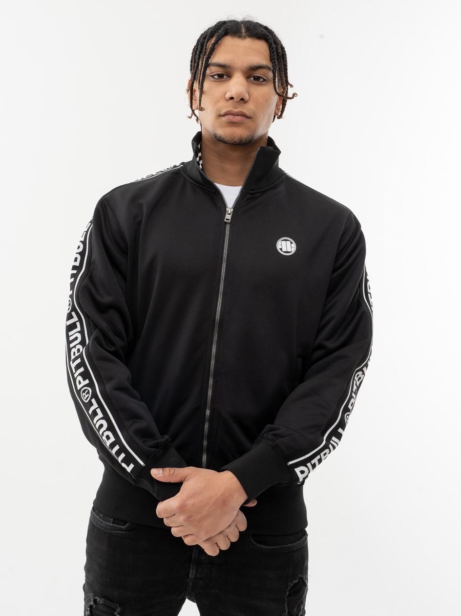 Bluza Track Jacket Pitbull West Coast Tape Logo Czarna