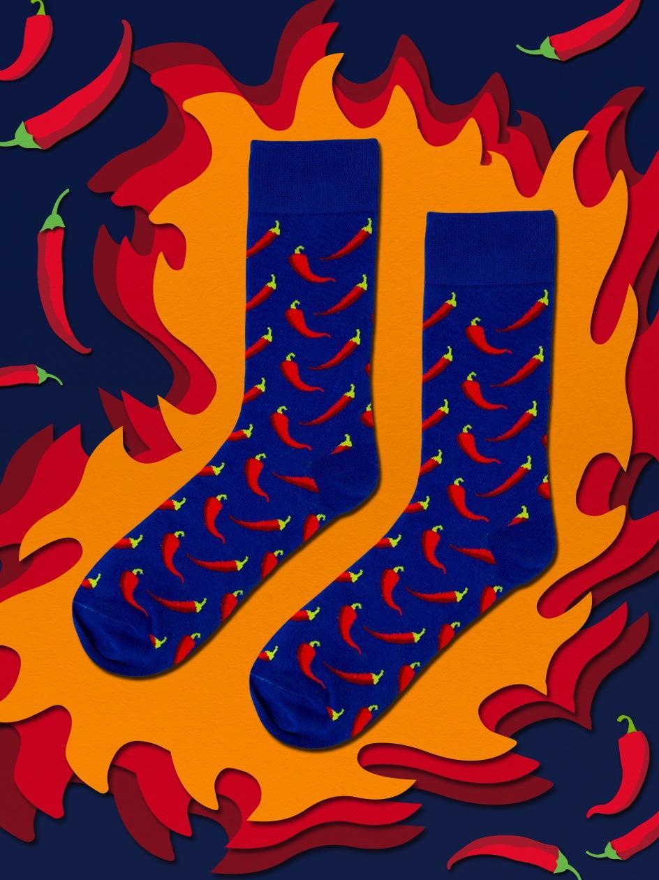Długie Skarpety We Wzory MyStars x Blind Box Peppers Niebieskie