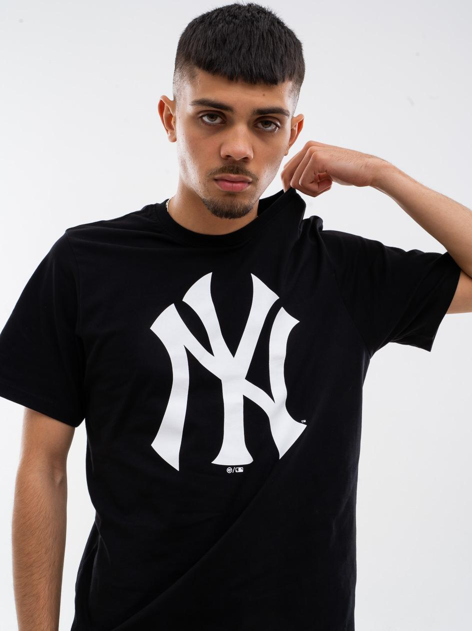 Koszulka Z Krótkim Rękawkiem 47 Brand New York Yankees Imprint Echo Czarna / Biała