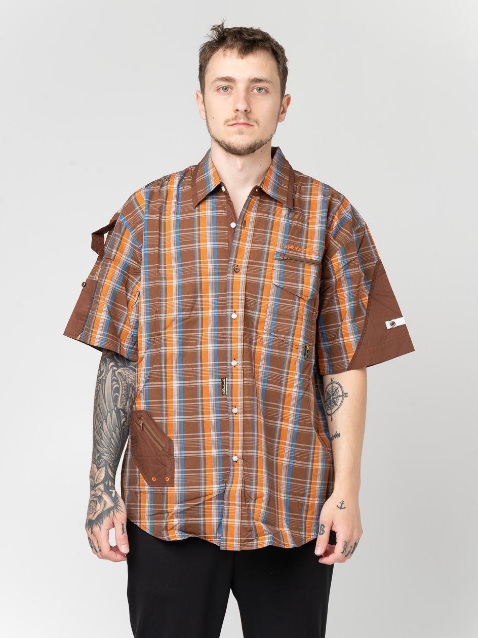 Koszula Z Krótkim Rękawem Urban Selection Grill Brązowa