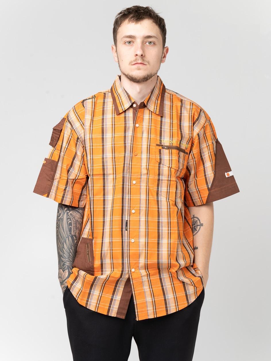 Koszula Z Krótkim Rękawem Urban Selection Grill Pomarańczowa