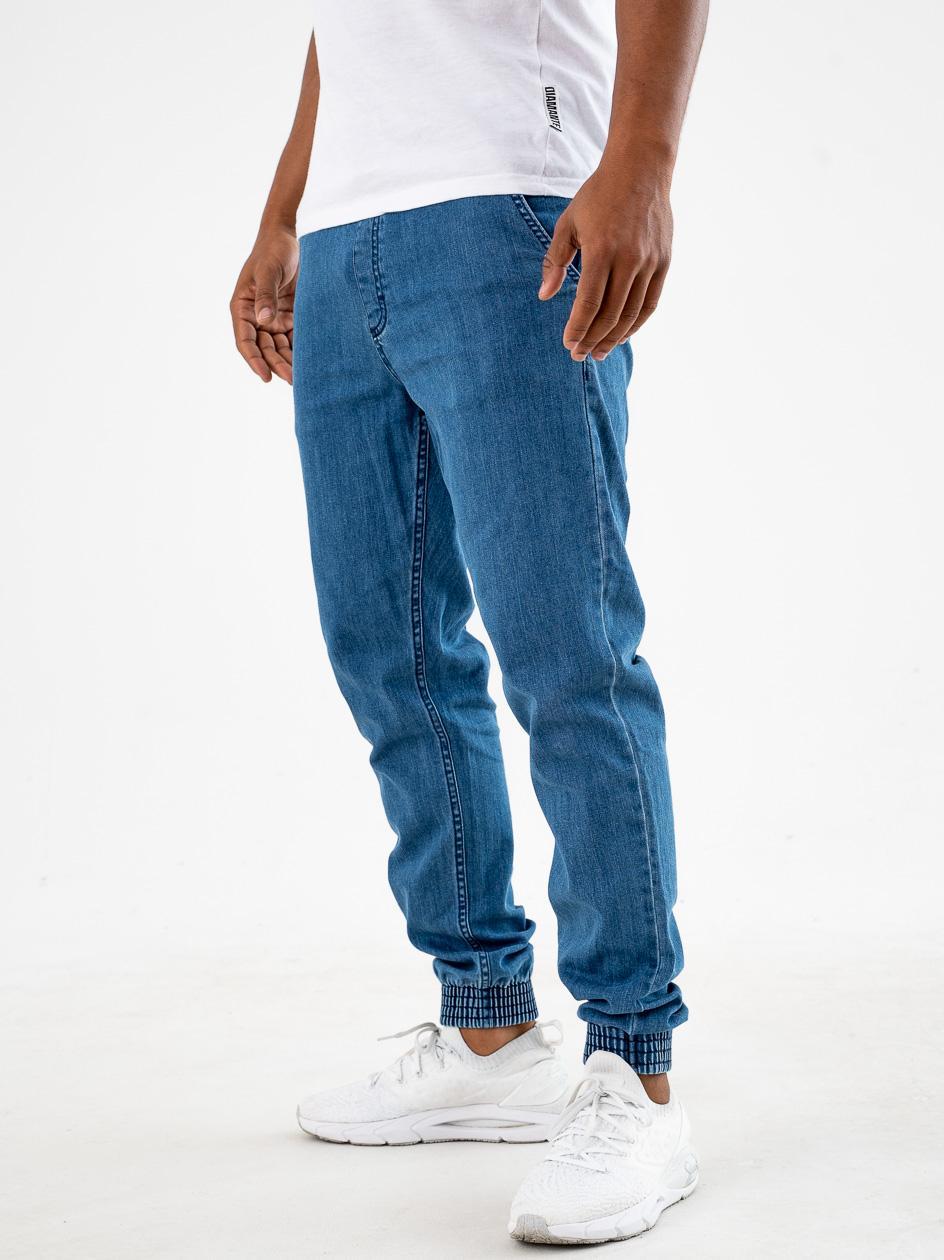 Spodnie Jeansowe Jogger Slim SSG One Pocket Classic Jasne Niebieskie