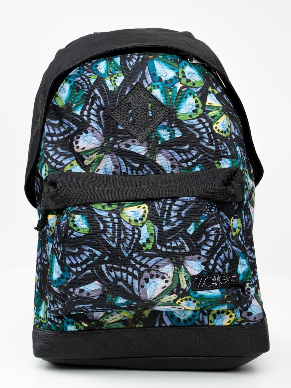 Plecak Two Angle Butterfly Czarny Zielony