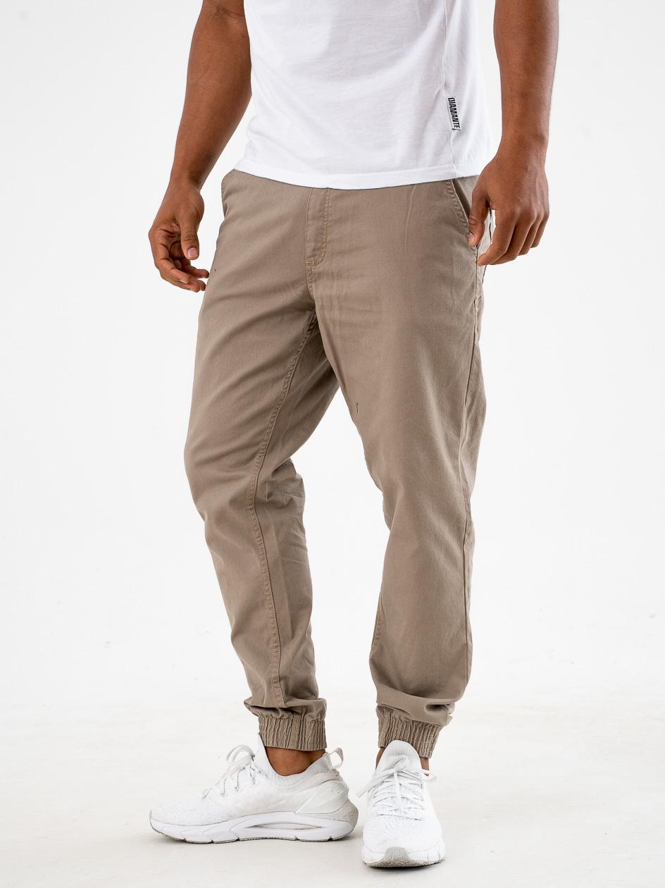 Spodnie Materiałowe Jogger Slim SSG Skin Beżowe