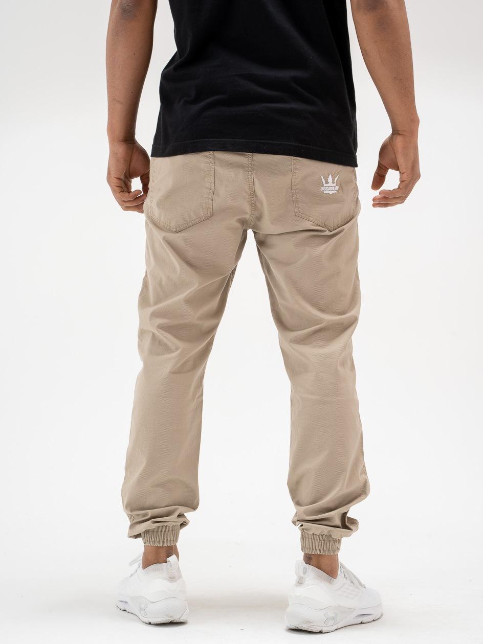 Spodnie Jogger Jigga Crown Wafer Beżowe