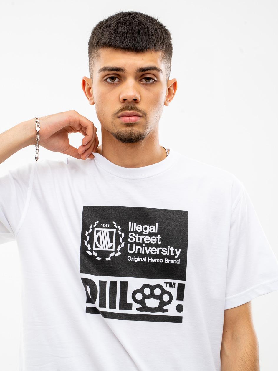 Koszulka Z Krótkim Rękawem DIIL Block Biała