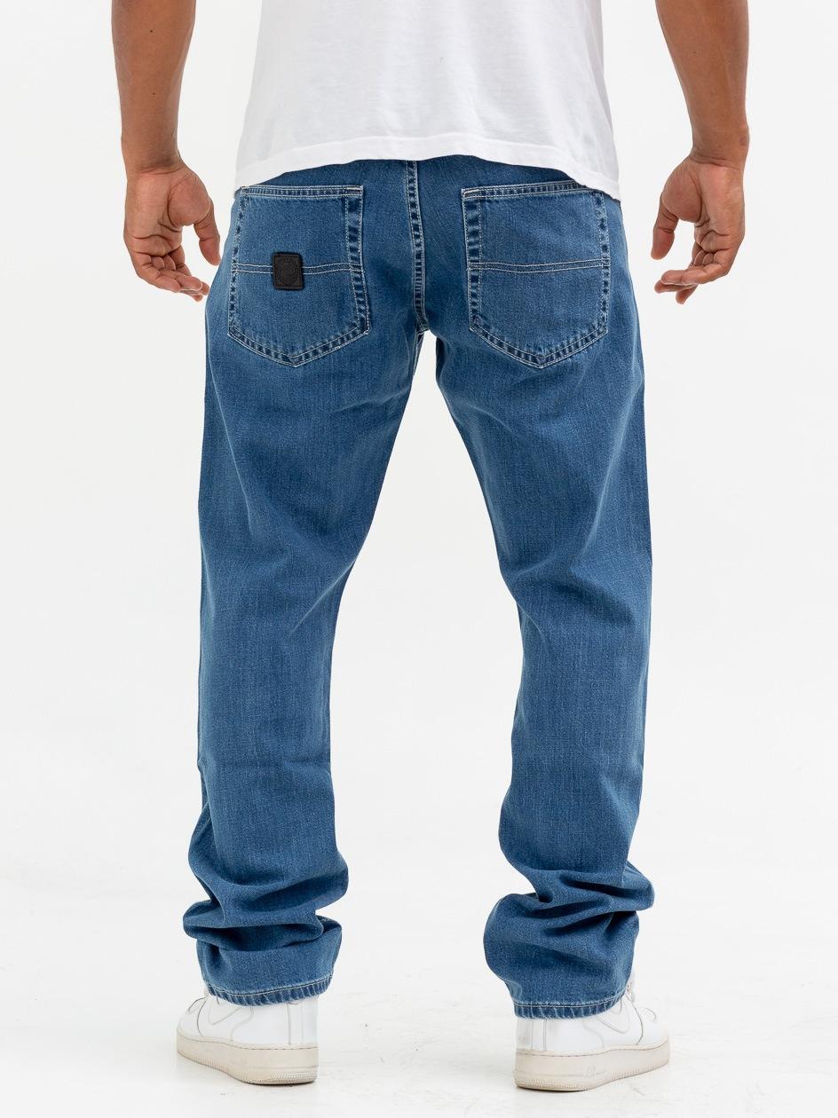 Spodnie Jeansowe Regular Mass Base Niebieskie
