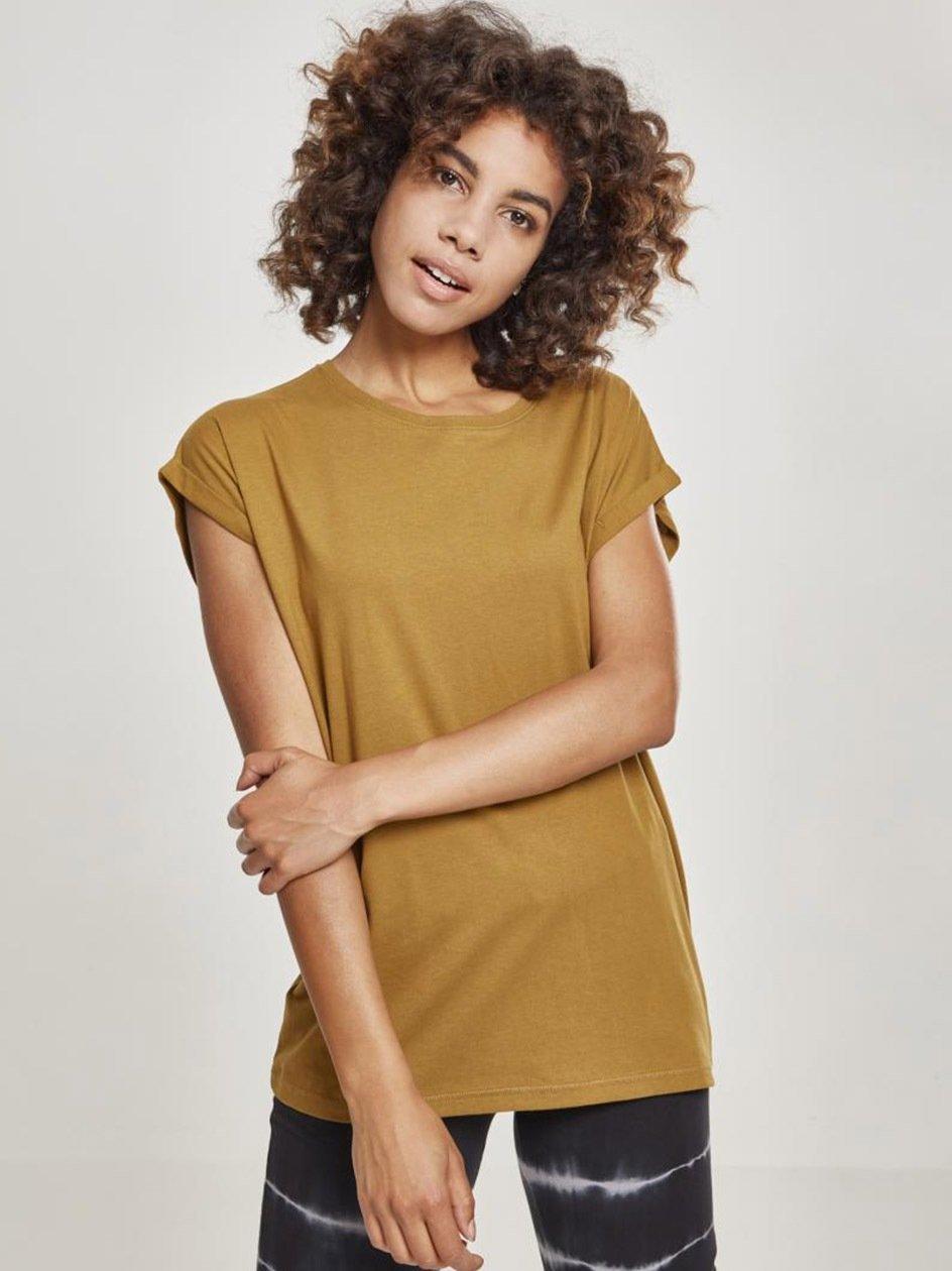 Damska Lużna Koszulka Z Krótkim Rękawem Urban Classics TB771 Brązowa