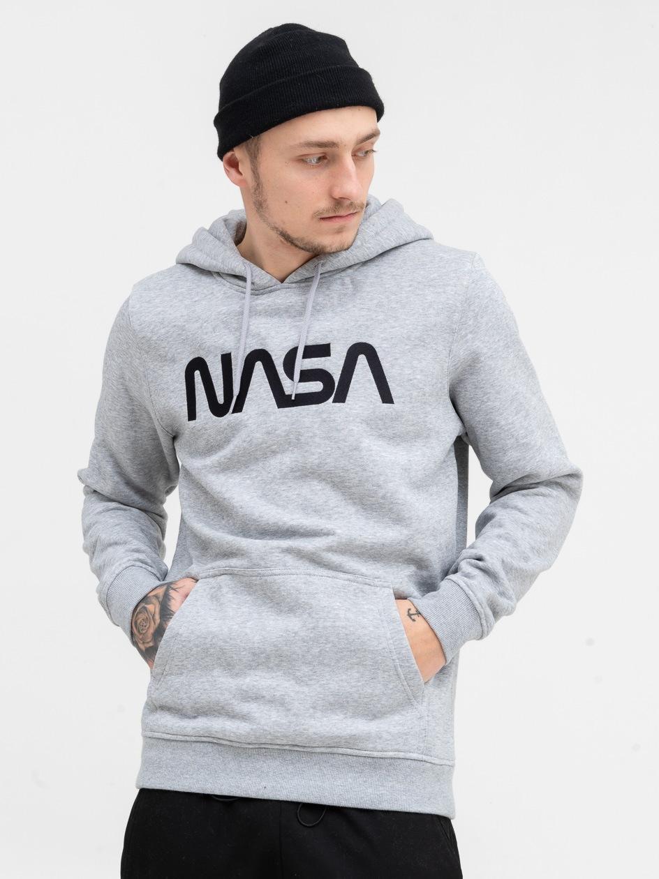 Bluza Z Kapturem Mister Tee NASA EMB Szara