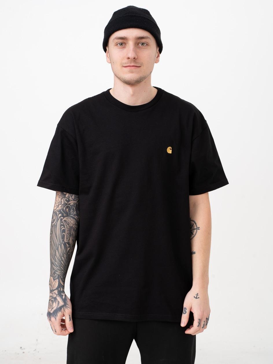 Koszulka Z Krótkim Rękawem Carhartt WIP Chase Czarna / Złota