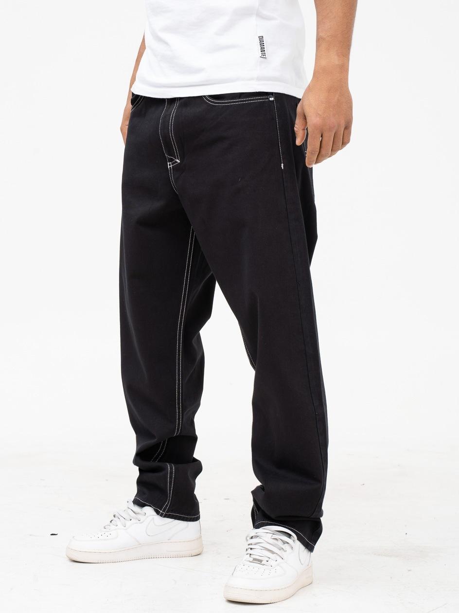 Spodnie Materiałowe Baggy Mass Craft Czarne