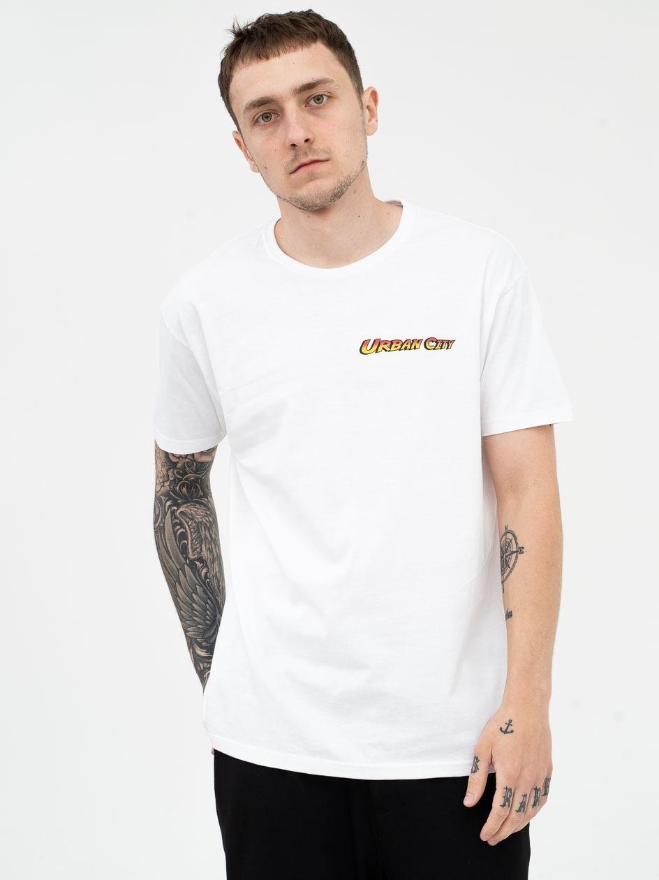 Koszulka Z Krótkim Rękawem Urban City Indiana City Biała PRODUKT Z WADĄ