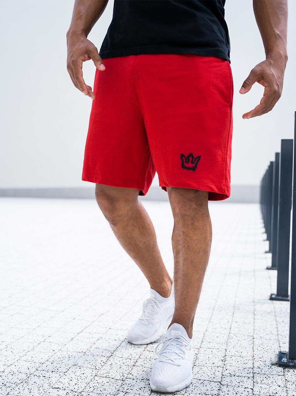 Krótkie Spodenki Dresowe Jigga Wear Mini Spray Czerwone