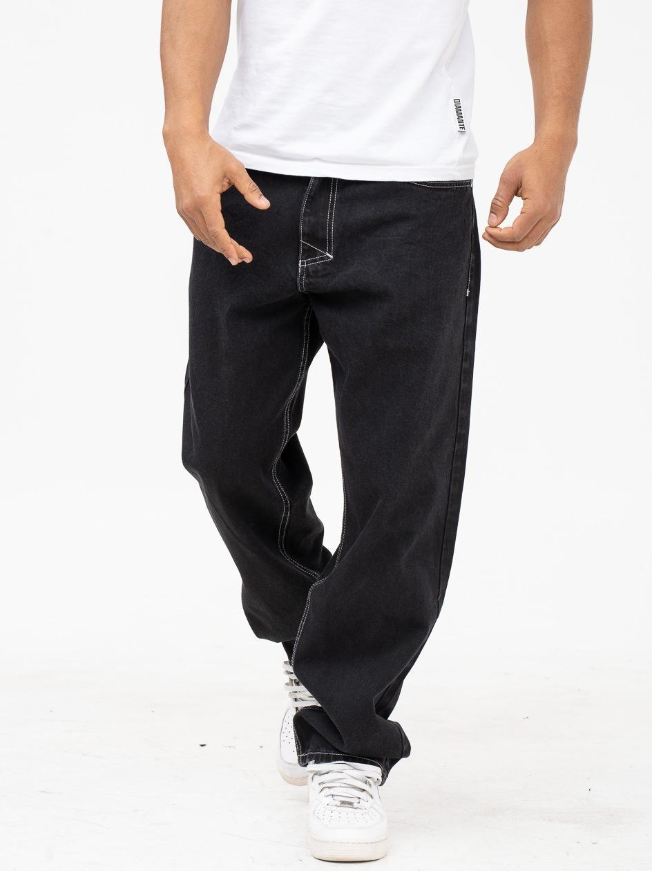Spodnie Jeansowe Baggy Mass Craft Czarne