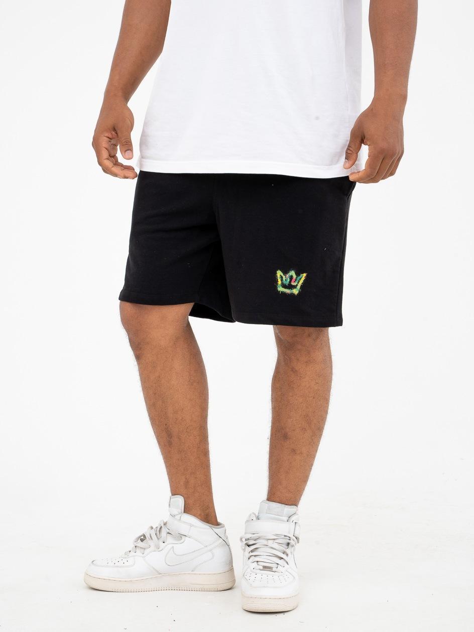 Krótkie Spodenki Dresowe Jigga Wear Mini Spray Czarne