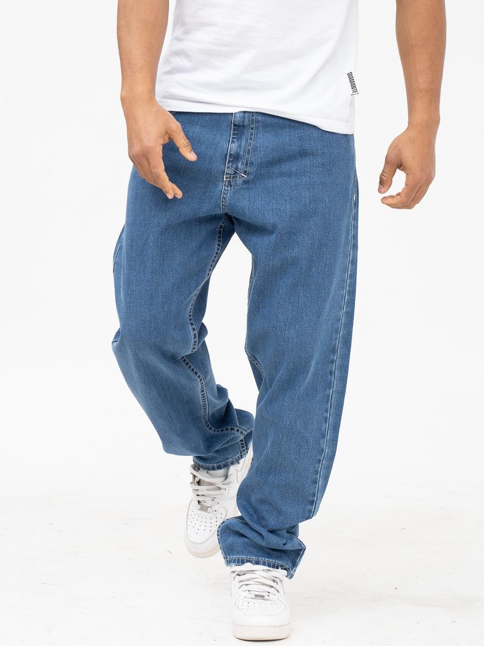 Spodnie Jeansowe Baggy Mass Craft Niebieskie