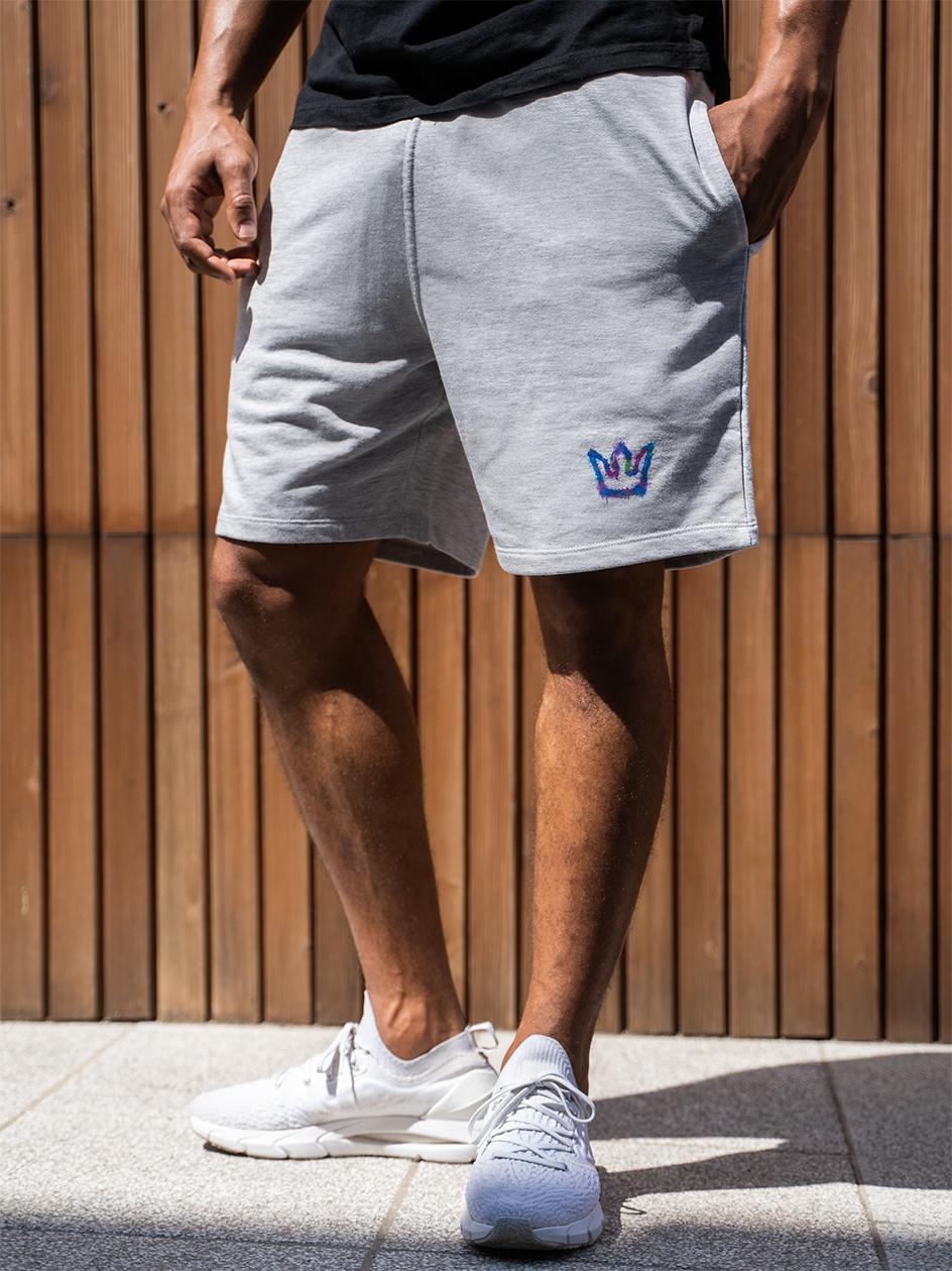 Krótkie Spodenki Dresowe Jigga Wear Mini Spray Szare