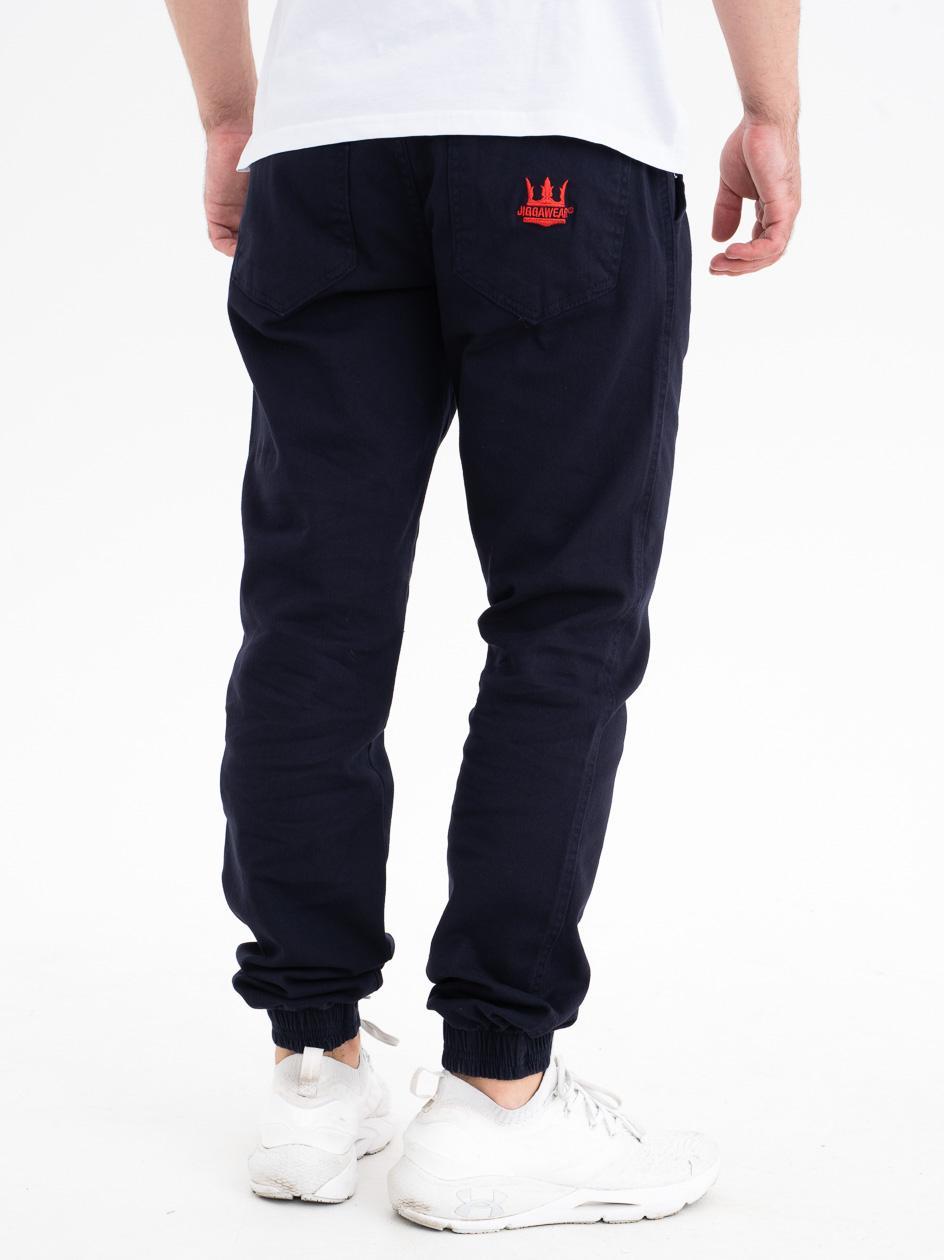 Spodnie Jogger Jigga Crown Stitch Granatowe / Czerwone