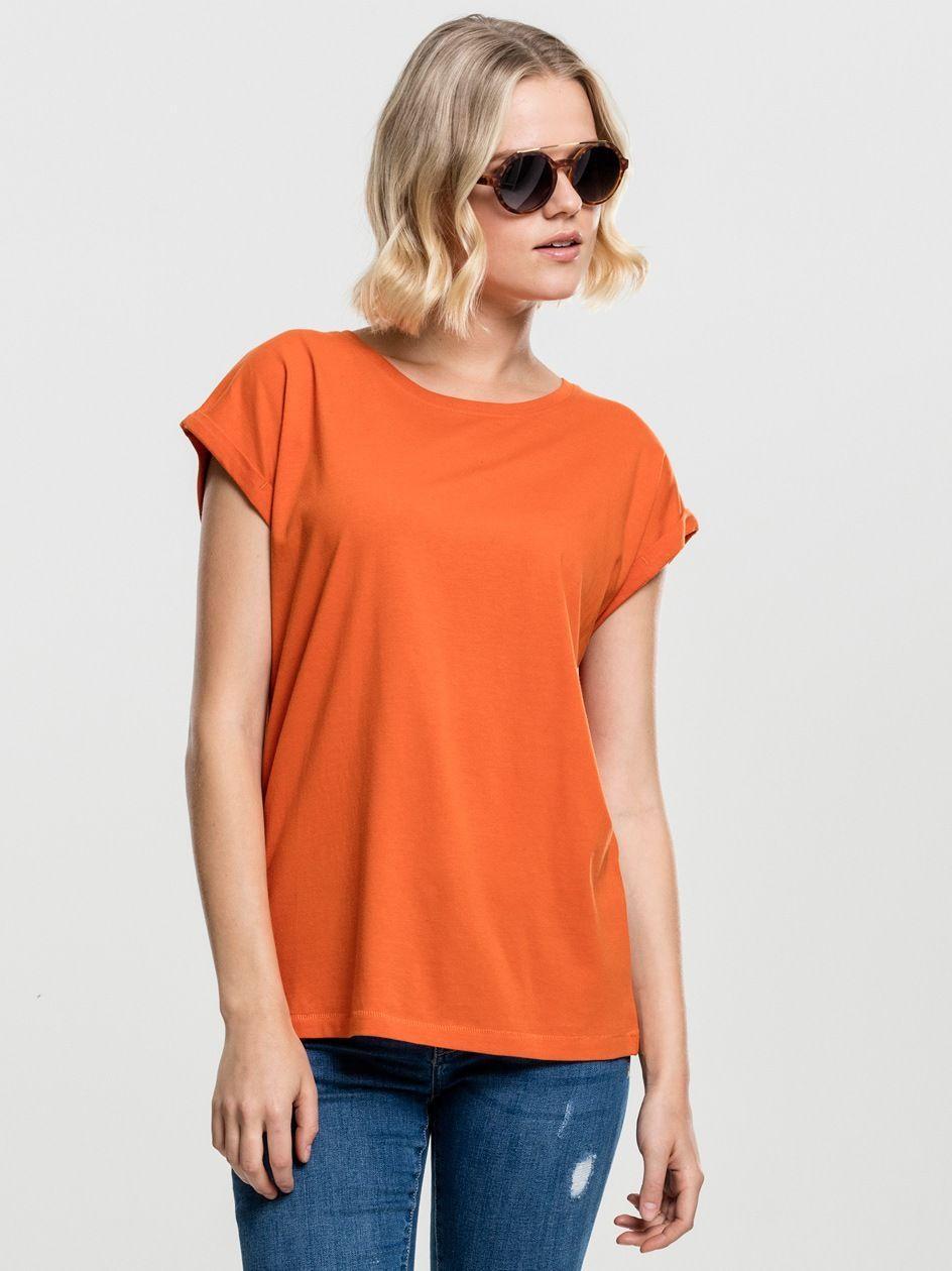 Damska Lużna Koszulka Z Krótkim Rękawem Urban Classics TB771 Pomarańczowa