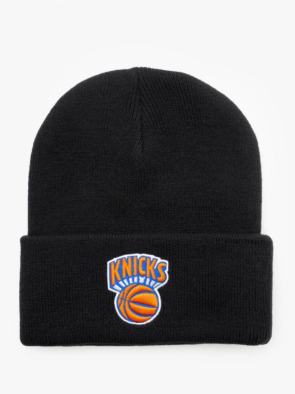 Czapka Zimowa Mitchell & Ness NBA New York Knicks Team Logo Czarna