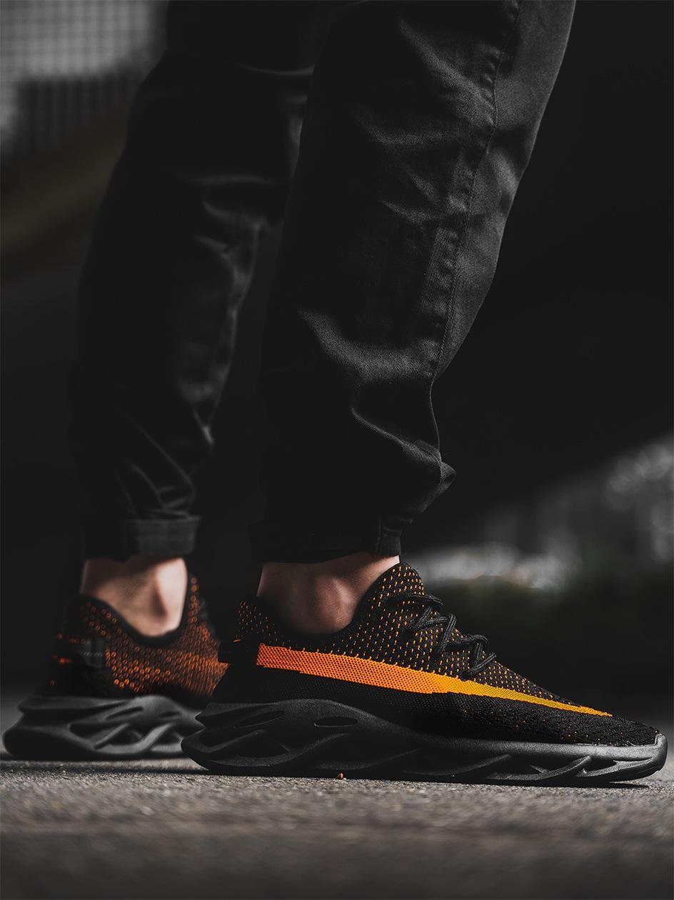 Buty Sportowe Sneakers Breezy Future Czarne / Pomarańczowe