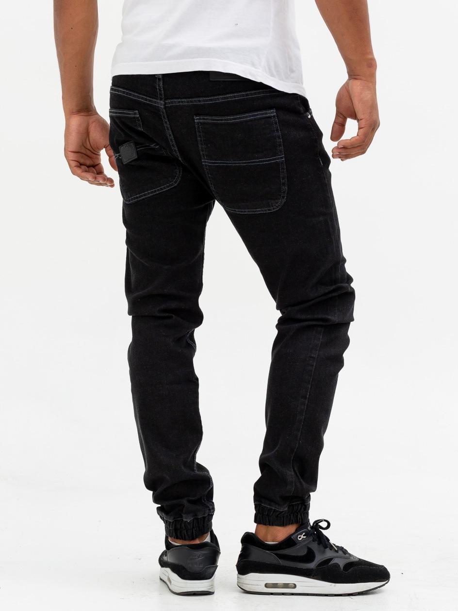 Spodnie Jeansowe Jogger Mass Base Czarne