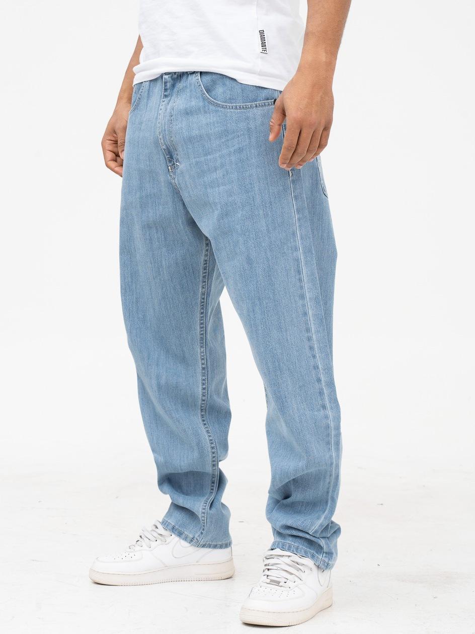 Spodnie Jeansowe Baggy Mass Slang Jasne Niebieskie