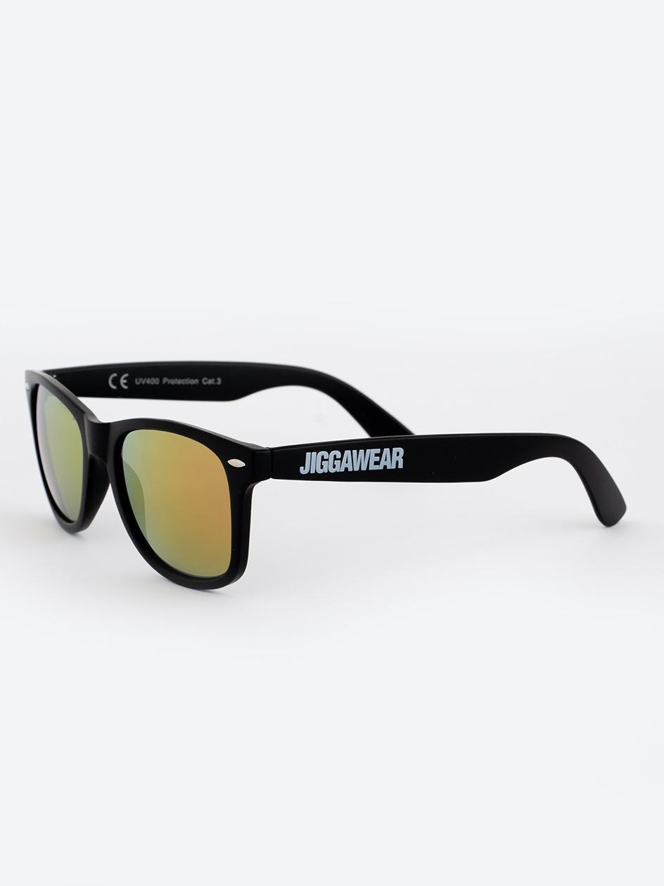 Okulary Przeciwsłoneczne Jigga Wear Name Contrast Czarne / Żołte