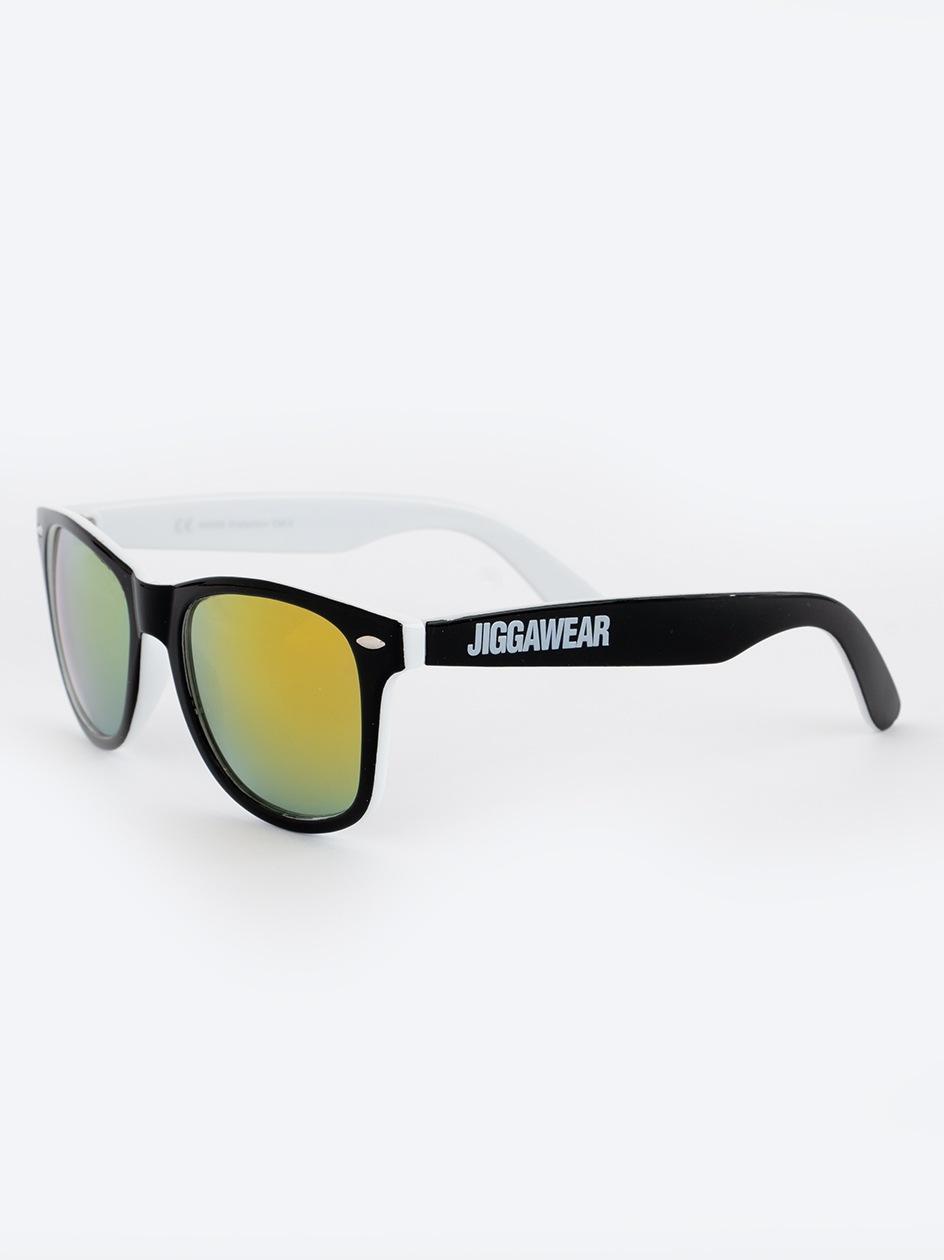 Okulary Przeciwsłoneczne Jigga Wear Name Contrast Czarne / Białe / Żółte