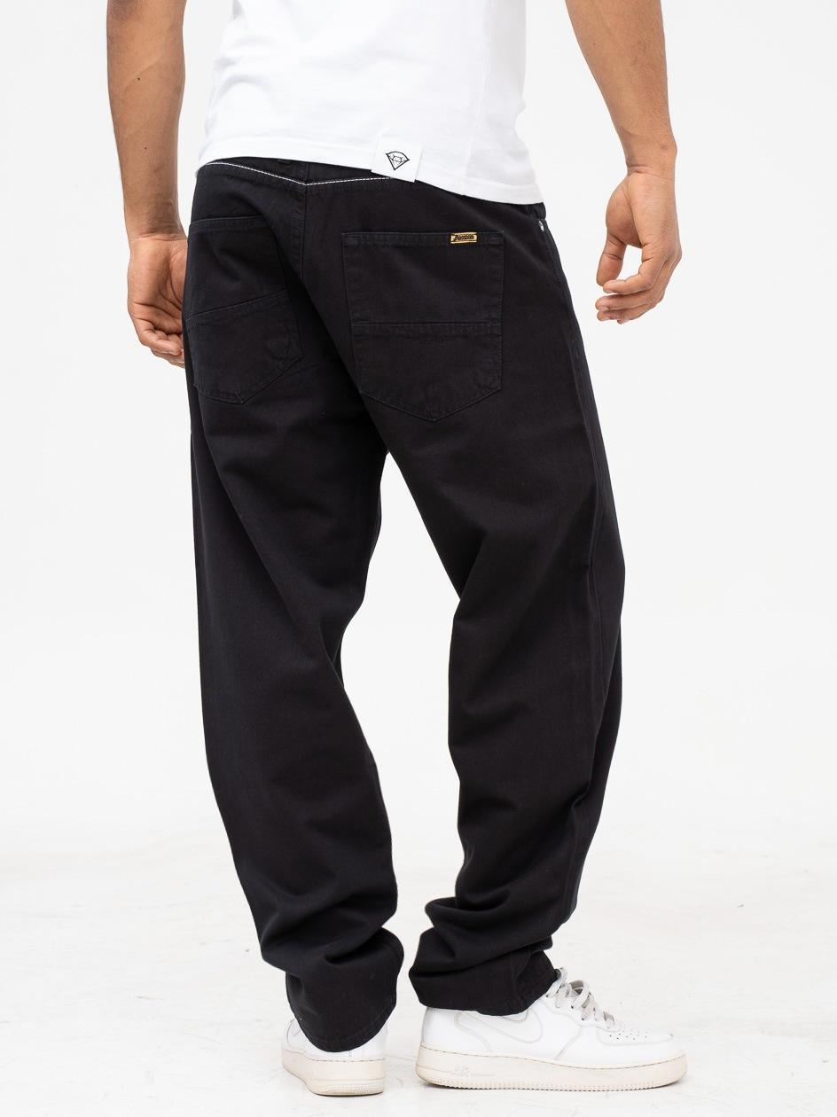 Spodnie Materiałowe Baggy Mass Slang Czarne