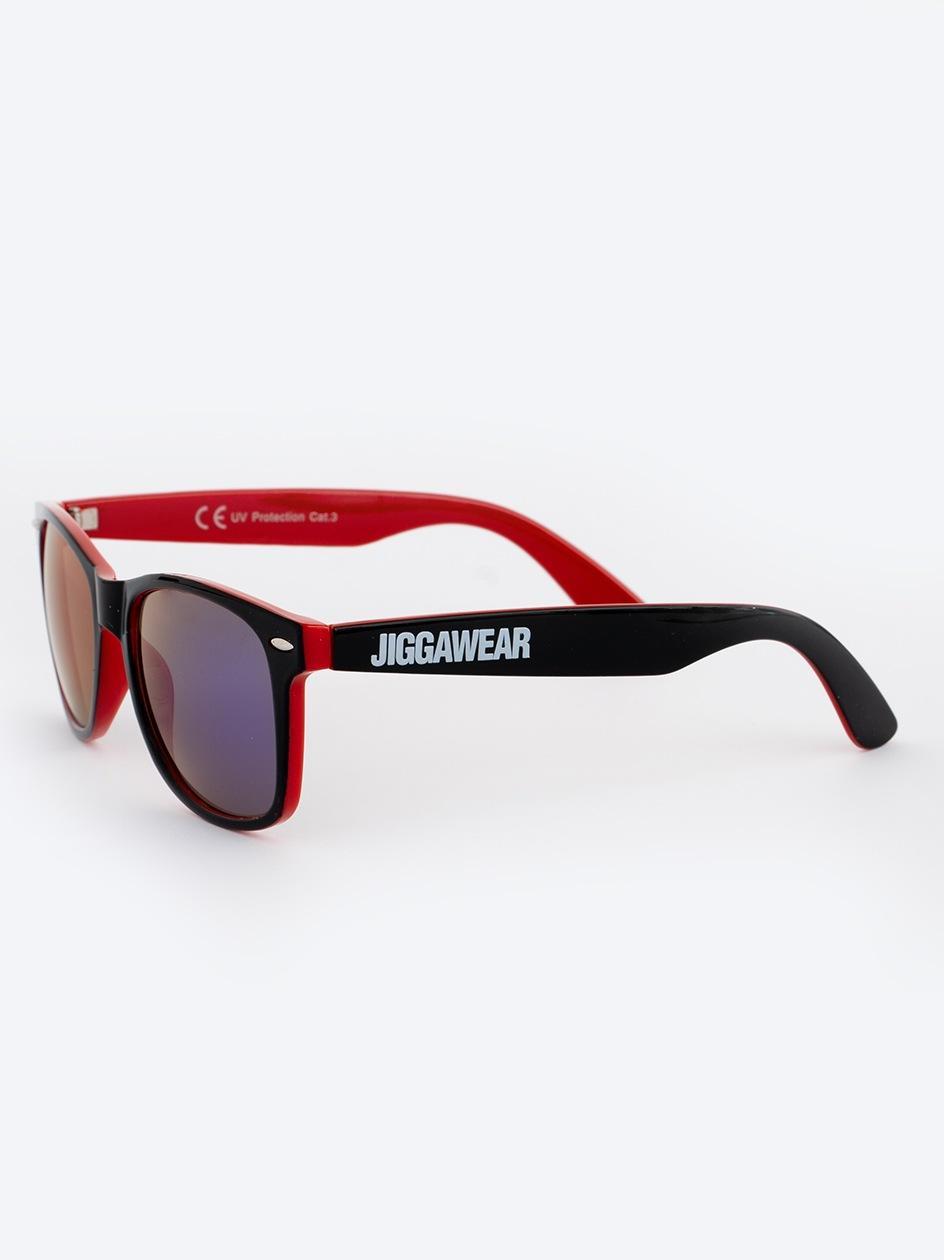 Okulary Przeciwsłoneczne Jigga Wear Name Contrast Czarne / Czerwone / Fioletowe