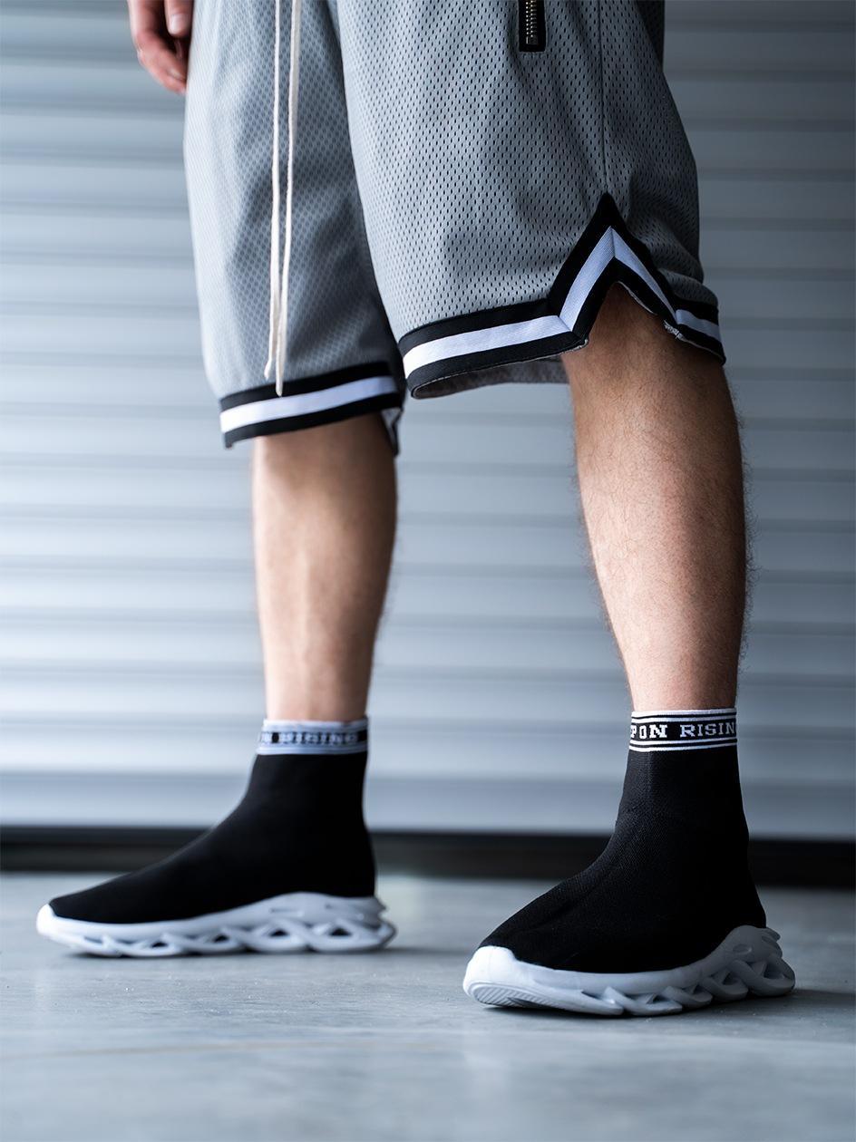 Buty Sportowe Sneakers Breezy Keep On Rising Socks Czarne / Białe