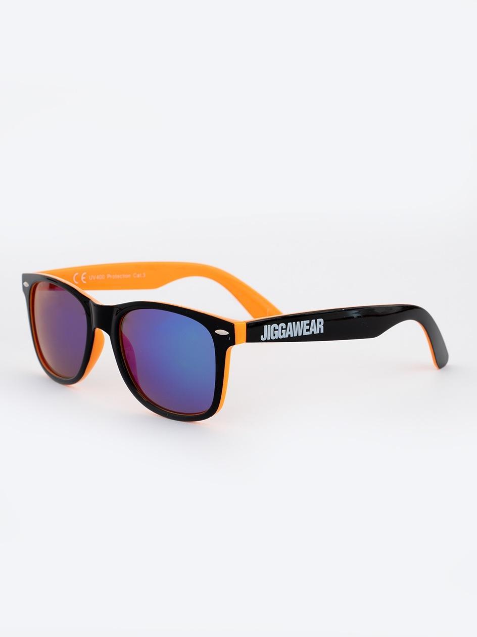 Okulary Przeciwsłoneczne Jigga Wear Name Contrast Czarne / Pomarańczowe / Fioletowe