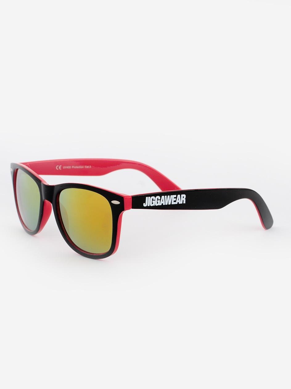 Okulary Przeciwsłoneczne Jigga Wear Name Contrast Czarne / Magenta / Żółte