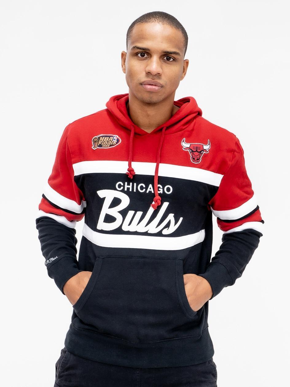 Bluza Z Kapturem Mitchell & Ness Chicago Bulls Head Coach Czarna
