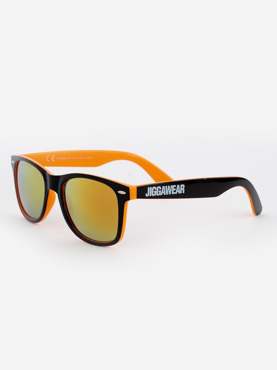 Okulary Przeciwsłoneczne Jigga Wear Name Contrast Czarne / Pomarańczowe / Żółte