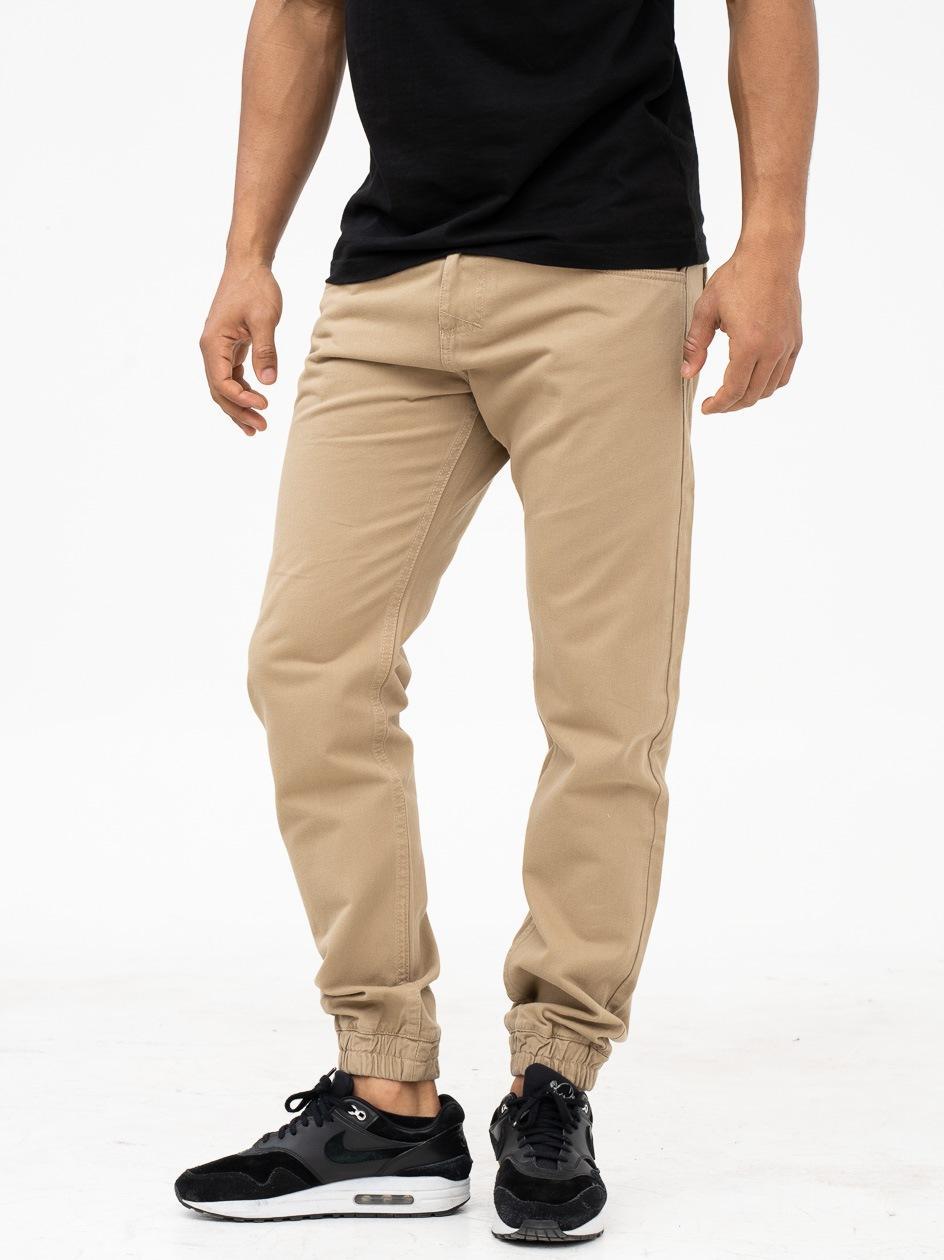 Spodnie Materiałowe Jogger Mass Base Beżowe