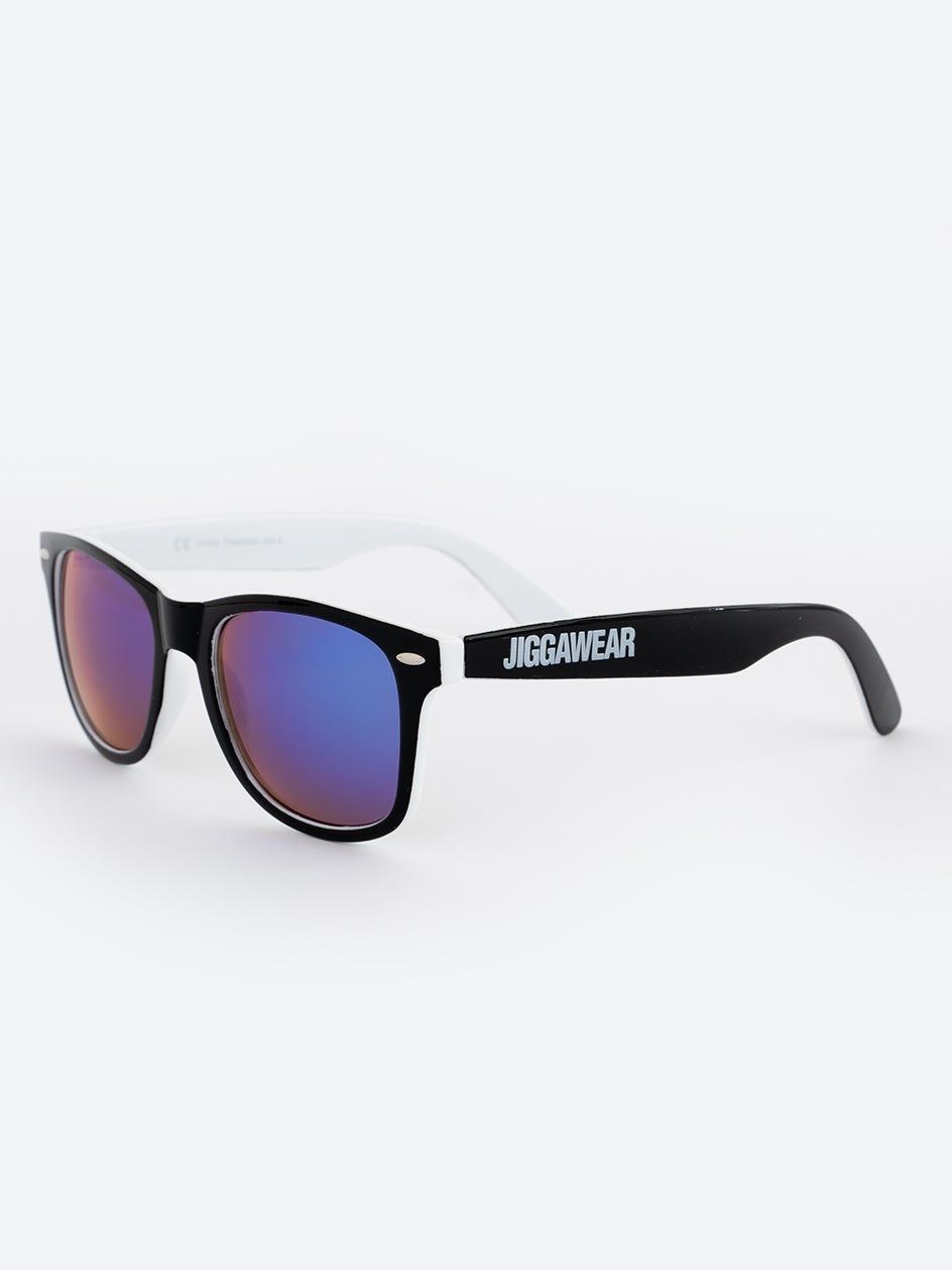 Okulary Przeciwsłoneczne Jigga Wear Name Contrast Czarne / Białe / Fioletowe