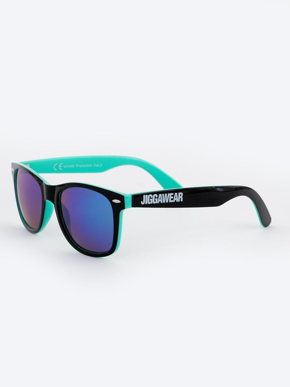 Okulary Przeciwsłoneczne Jigga Wear Name Contrast Czarne / Miętowe / Fioletowe