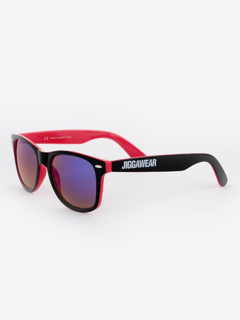 Okulary Przeciwsłoneczne Jigga Wear Name Contrast Czarne / Magenta / Fioletowe